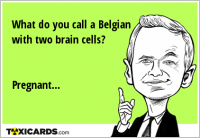 What do you call a Belgian with two brain cells? Pregnant...